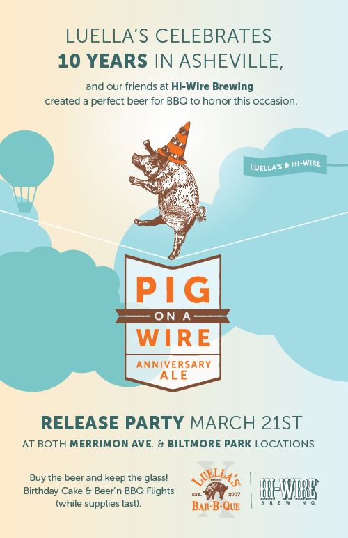 Luella\'s Bar-B-Que - Pig on a Wire Release Party | Biltmore Park ...